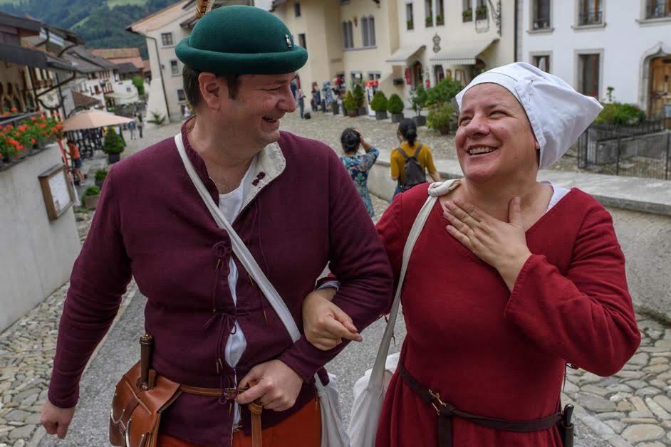 Fête de la Saint-Jean au château de Gruyères, le 22 juin 2019 © Lib/Alain Wicht