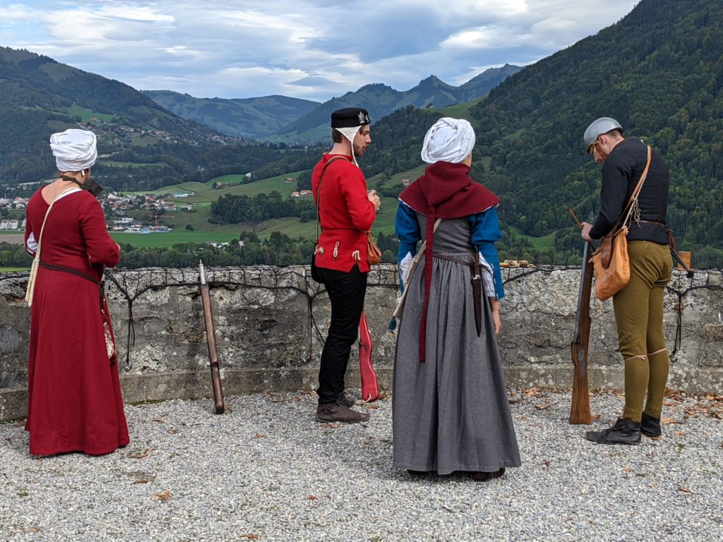Crédit photo: Compagnie des Quatre Lunes. Journée des Châteaux suisses à Gruyères, 03.10.2021